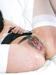 Kotomi Asakura Asian house keeper gets vibrator on tits and twat