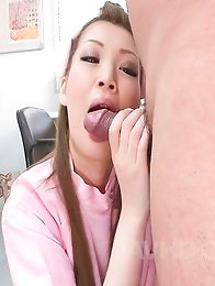 Ayumi Kobayashi Asian nurse pays a lot of atention to suck tool