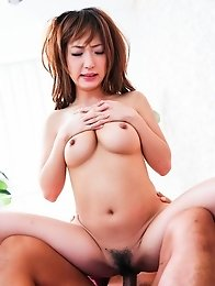 Sana Anzyu Asian gets finger in hairy pussy and vibrator over it