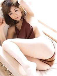 Japanese Asami Tani  with big naughty hooters has hot photo session