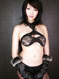 Yuuri Morishita busty in lace lingerie wants to punish men
