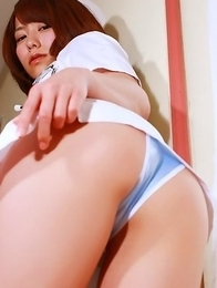 Misato Kashiwagi nurse shows naughty ass in tiny panty