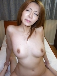 Yuna Hirose gives our cock a nice sucking and straddles on top to give it a ride