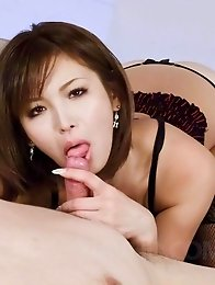 Mai Kuroki Asian with big and nude cans gets cum from shlong