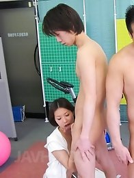 Rika Kitano Asian and chicks suck dicks and have cunts fucked