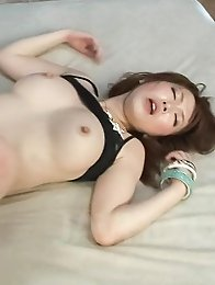 Sayaka Tsuzi Asian puts vibrator on clit and rides and sucks dong